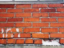 Baksteen en bakstenen muur stock foto