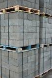Baksteen en blok Stock Foto