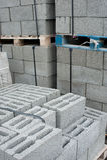 Baksteen en blok Stock Afbeeldingen