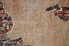 Baksteen en Concrete muur Royalty-vrije Stock Afbeelding