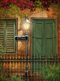 Baksteen en Gipspleister de Achtergrond van New Orleans Stock Foto's