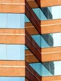 Baksteen en Glas Architecturale Hoeken stock afbeeldingen