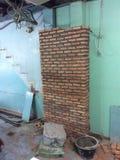 Baksteen en schaduw 2 van muur royalty-vrije stock afbeelding
