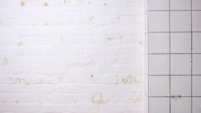 Baksteen en van de tegels witte textuur achtergrond Stock Afbeelding