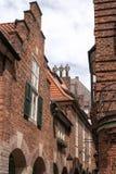 Baksteenhuizen in Bremen, Duitsland Stock Foto