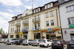 Baksteenrijtjeshuis in Zakopane Stock Foto's