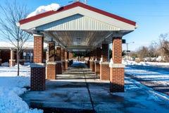 Baksteenstructuur op een lokale school Stock Afbeelding