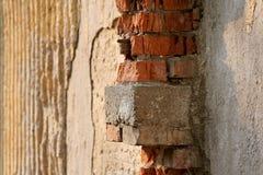 Bakstenen en pleister Stock Afbeelding