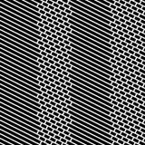 Bakstenen en Strepen Vector Naadloos Patroon Stock Afbeeldingen