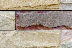 Bakstenen murentextuur Stock Afbeeldingen
