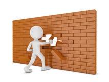 Bakstenen muur vector illustratie