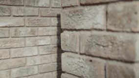 Bakstenen muur stock footage