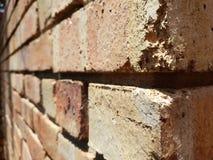 Bakstenen muur bij verschillende hoek royalty-vrije stock afbeeldingen