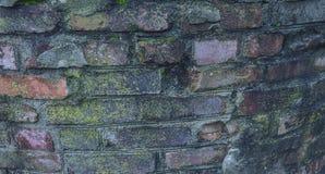 Bakstenen muur buiten een Historisch Burgeroorlogfort royalty-vrije stock afbeeldingen