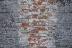 Bakstenen muur buiten een Historische Burgeroorlog Fort3 stock fotografie