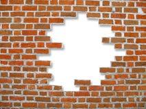 Bakstenen muur en achtergrond Stock Afbeelding