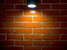 Bakstenen muur en schijnwerperachtergrond Royalty-vrije Stock Afbeelding