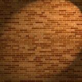 Bakstenen muur en straal van licht Stock Afbeeldingen