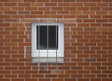 Bakstenen muur en venster Stock Fotografie
