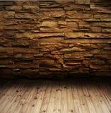Bakstenen muur en vloer Royalty-vrije Stock Foto