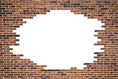 Bakstenen muur (frame) en witte achtergrond Royalty-vrije Stock Afbeeldingen