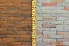 Bakstenen muur gemengd patroon royalty-vrije stock foto