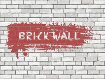 Bakstenen muur grunge textuur Stock Fotografie