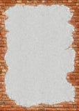 Bakstenen muur grungy frame Stock Foto's