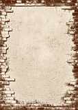 Bakstenen muur grungy frame vector illustratie