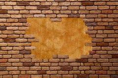 Bakstenen muur grungy frame Stock Fotografie