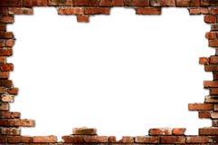 Bakstenen muur grungy frame stock foto
