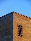 Bakstenen muur. Het oude huis. Moskou. Royalty-vrije Stock Fotografie