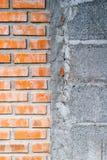 Bakstenen muur met halftint Stock Fotografie