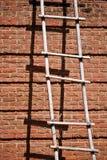 Bakstenen muur met Ladder Royalty-vrije Stock Fotografie