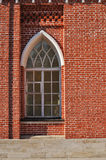 Bakstenen muur met venster Stock Afbeelding