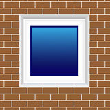 Bakstenen muur met venster vector illustratie