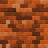 Bakstenen muur naadloze geproduceerde textuur stock illustratie