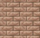 Bakstenen muur naadloze textuur als achtergrond royalty-vrije illustratie