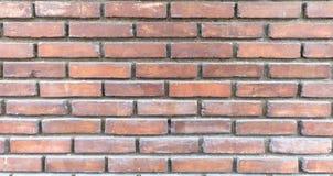 Bakstenen muur in oranje bruine toon Royalty-vrije Stock Foto