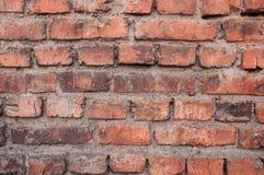 Bakstenen muur Rode baksteen stock afbeeldingen
