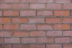 Bakstenen muur van een gebouw, bakstenen muurtextuur Royalty-vrije Stock Afbeeldingen