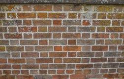 Bakstenen muur van een Historisch Burgeroorlogfort royalty-vrije stock afbeeldingen