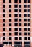 Bakstenen muur van een huis in aanbouw Royalty-vrije Stock Foto's