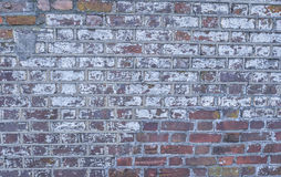 Bakstenen muur van Historisch Burgeroorlogfort royalty-vrije stock foto