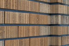 Bakstenen muur vanuit een Invalshoek Royalty-vrije Stock Afbeelding