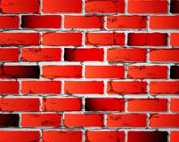 Bakstenen muur Vector rode kleur met textuur royalty-vrije illustratie