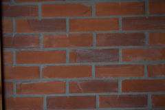 Bakstenen muur voor uw ontwerp Stock Fotografie