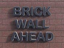 Bakstenen muur vooruit concept Royalty-vrije Stock Afbeeldingen