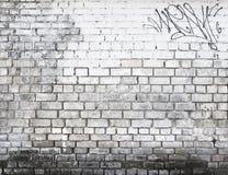 Bakstenen muur in zwart-wit Stock Afbeelding