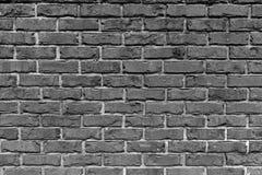 Bakstenen muur in Zwart & Wit voor Achtergrondgebruik Stock Foto's